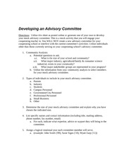 Advisory Committee Development