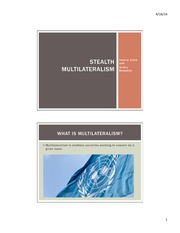 Group 2 Stealth Multilateralism