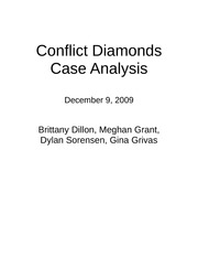 Conflict Diamonds Cover