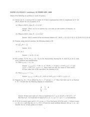 MATH 112 Spring 2009 Midterm 1 Solutions
