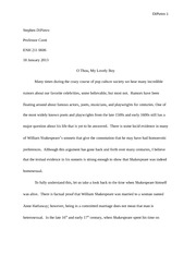 CSI shakespeare final paper