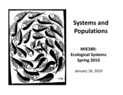 systems and populations