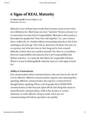 Pocket_ 6 Signs of REAL Maturity