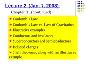 Phys 0175 - Lecture 2