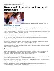 corporal punishment-article for prob stats