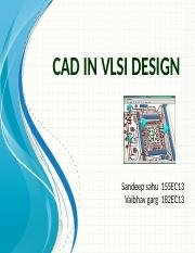 Cad in vlsi design