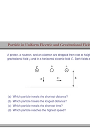 25. Particle in Uniform Electric and Gravitational Field
