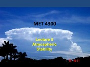 Study Guide on Atmospheric Stability
