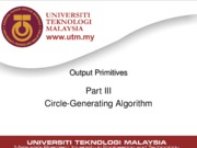 Lecture07 - Output Primitives (Part III)