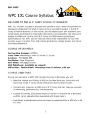 WPC 101 Official Syllabus - WEDNESDAY Fall 2015 2 (2).docx