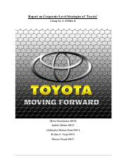 executive summary toyota 2 Executive summary lexus automobile company has one of the leading marketing programs of any automobile manufacturer lexus has used many marketing strategies to deploy key characteristics into the minds of the public.