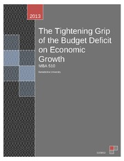 510 - Week 5 Written Assignment - Budget Deficits and Debt