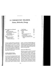 A chemistry primer _H McGee_