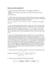 Hard Math #1 Explanations