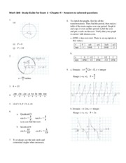Math 108 Exam 1 Study Guide Solutions