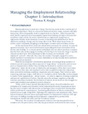 Chapter 1-Managing the Employment Relationship - Chapter 1 Text