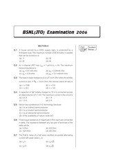 BSNL(JTO) Exam-2006_New