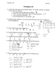 Answers Worksheet 4