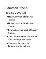 Common Stocks.docx
