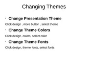 Changing Themes