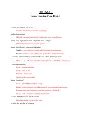 AP1 final review with answers rtf - 1093(A&P I Comprehensive