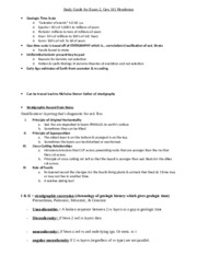 Geology 101 Study Guide Exam 2 (Henderson)