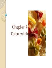Chapter 4 Carbohydrates(1)