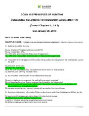 Comm 455 homework #1 Due January 26 2015_questions  solutions