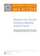 Blueprint for Success starting a Business Analyst Career