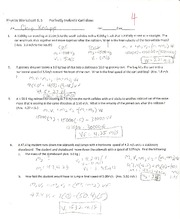 Physics- Perfectly inelastic collisions worksheet