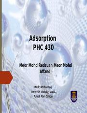 Adsorption lecture note