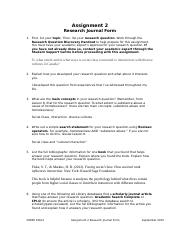 Research Journal Form_COMM 100