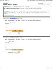 Webassign Answers Algebra And Trigonometry