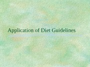 PUBH 3617 Application of Diet Guidelines