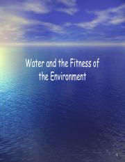 L2-Water and the Fitness of the Evironment.pdf