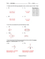 Exam 3 Solution Summer 2014 on General Chemistry