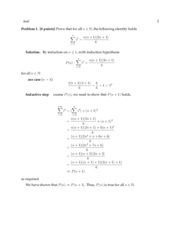 Solutions for exam 1