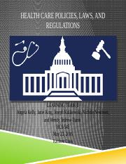 Health Care Policies,  Laws, and Regulations-4