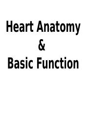 ANAT_unit 3_heart anatomy and function_Notes