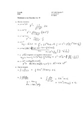 Worksheet 3 Solution on Calculus 2