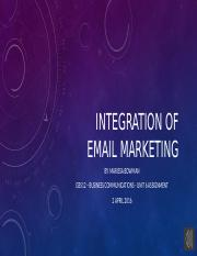 Integration of email marketing Unit6 Marissa Bowman