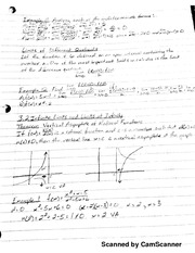 MATH 206 Limits Notes Continued