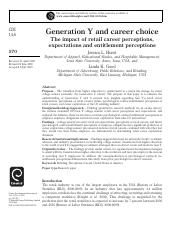 Generation Y and career choice