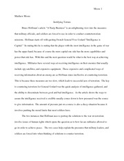 AMS Hoffman A Nasty Business Essay