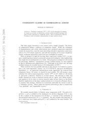Complexity Classes As Mathematical Axioms