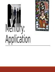 Memory Applications Part 1.pptx