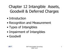 Chapter 12 - Intangible Assets
