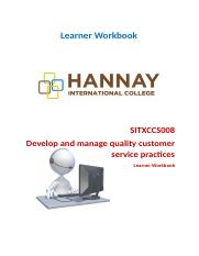 SITXCCS008 Devolep and manage quality customer servicer practices.docx