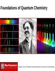Foundations of Quantum Mechanics_1151_Fall2011a