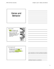 Chapter 03 (II) - Genes and behavior